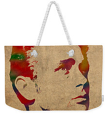 James Dean Watercolor Portrait On Worn Distressed Canvas Weekender Tote Bag