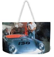 James Dean With His Spyder Weekender Tote Bag