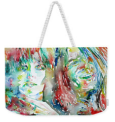 Janis Joplin And Grace Slick Watercolor Portrait.1 Weekender Tote Bag