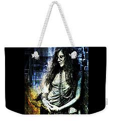 Janis Joplin - Blue Weekender Tote Bag by Absinthe Art By Michelle LeAnn Scott