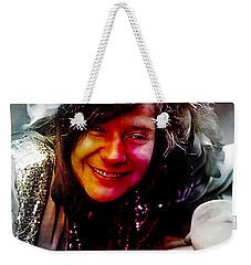 Janis Joplin Weekender Tote Bag by Marvin Blaine