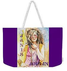 Janis Joplin Painted Poster Weekender Tote Bag