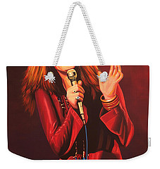 Janis Joplin Painting Weekender Tote Bag by Paul Meijering