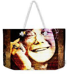 Janis Joplin - Upclose Weekender Tote Bag by Absinthe Art By Michelle LeAnn Scott