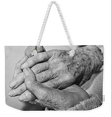 Jan's Hands Weekender Tote Bag by Roselynne Broussard