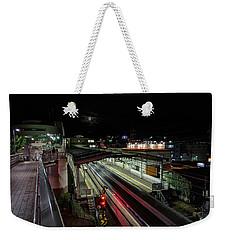 Japan Train Night Weekender Tote Bag