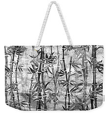 Japanese Bamboo Grunge Black And White Weekender Tote Bag