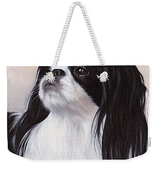 Japanese Chin Painting Weekender Tote Bag by Rachel Stribbling