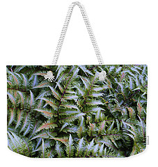 Weekender Tote Bag featuring the photograph Japanese Ferns by Kathryn Meyer