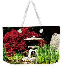 Japanese Garden Weekender Tote Bag by Angela DeFrias
