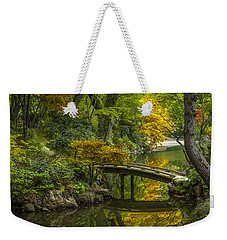 Weekender Tote Bag featuring the photograph Japanese Garden by Sebastian Musial
