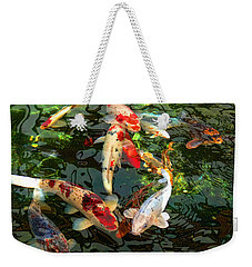 Japanese Koi Fish Pond Weekender Tote Bag by Jennie Marie Schell