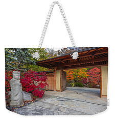 Weekender Tote Bag featuring the photograph Japanese Main Gate by Sebastian Musial