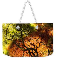 Japanese Maples Weekender Tote Bag by Angela DeFrias