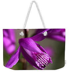 Weekender Tote Bag featuring the photograph Japanese Orchid by Joy Watson