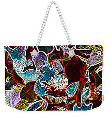 Japanese Quince In Abstract Weekender Tote Bag by Tine Nordbred