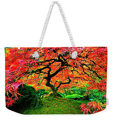 Japanese Red Maple Weekender Tote Bag