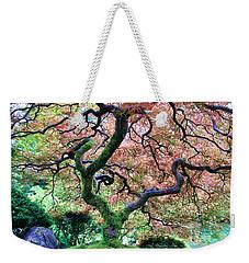 Japanese Tree In Garden Weekender Tote Bag