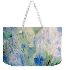 Jardin Bleu Weekender Tote Bag by Julie Brugh Riffey
