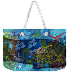 Jardine Cat Weekender Tote Bag by Robin Maria Pedrero