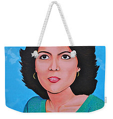Weekender Tote Bag featuring the painting Jasmina by Cyril Maza