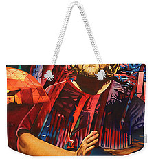 Weekender Tote Bag featuring the painting Jason Hann At Horning's Hideout by Joshua Morton