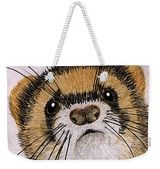 Weekender Tote Bag featuring the drawing Jasper by Barbara Moignard