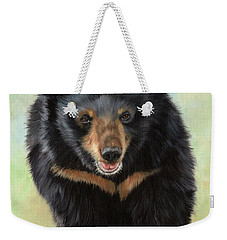 Jasper Moon Bear - In Support Of Animals Asia Weekender Tote Bag by David Stribbling