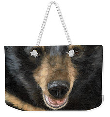 Jasper Moon Bear - In Support Of Animals Asia Weekender Tote Bag by Rachel Stribbling