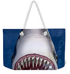 Jaws Great White Shark Art Weekender Tote Bag
