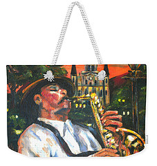 Jazz By Street Lamp Weekender Tote Bag