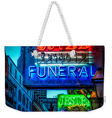 Jazz Funeral And Jester On Bourbon St. Weekender Tote Bag