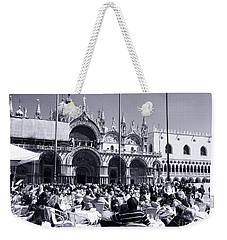 Jazz In Piazza San Marco Black And White  Weekender Tote Bag
