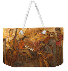 Jazz Quartet Weekender Tote Bag