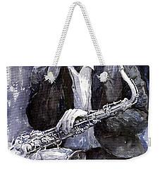 Jazz Saxophonist John Coltrane Black Weekender Tote Bag