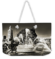 Jc Nichols Memorial Fountain Bw 1 Weekender Tote Bag