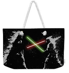 Jedi Duel Weekender Tote Bag by George Pedro