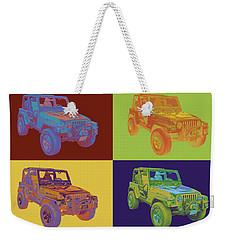 Jeep Wrangler Rubicon Pop Art Weekender Tote Bag