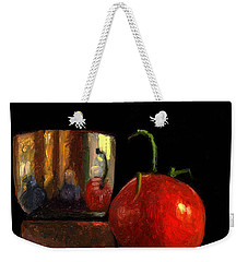 Jefferson Cup With Tomato And Sedona Bricks Weekender Tote Bag by Catherine Twomey