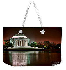Jefferson Memorial At Night Weekender Tote Bag