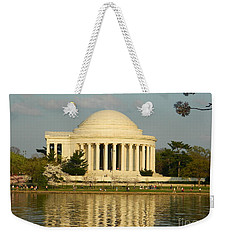Weekender Tote Bag featuring the photograph Jefferson Memorial At Sunset by Emmy Marie Vickers