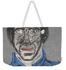 Weekender Tote Bag featuring the painting Jeffrey The Coal Miner by Jeffrey Koss