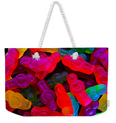 Weekender Tote Bag featuring the photograph Jelly Baby Abstract 4 by Mark Blauhoefer