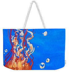 Weekender Tote Bag featuring the painting Jellyfish by Marisela Mungia