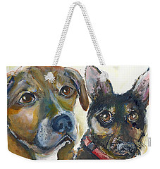 Jena And Dozer  Weekender Tote Bag