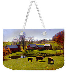 Jenne Farm In Autumn Weekender Tote Bag