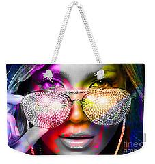 Jennifer Lopez  Weekender Tote Bag by Marvin Blaine