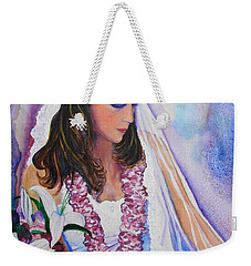 Weekender Tote Bag featuring the painting Jenny by Margaret Bobb