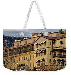 Weekender Tote Bag featuring the photograph Jerome Grand Hotel No.18 by Mark Myhaver