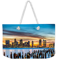 Jersey City Panorama At Sunset Weekender Tote Bag